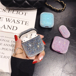 Hot Luxury resin Diamond AirPods case for Women Bling Crystal Anti-lost Cover for Airpods 1 2 3 Wireless Charging Cases