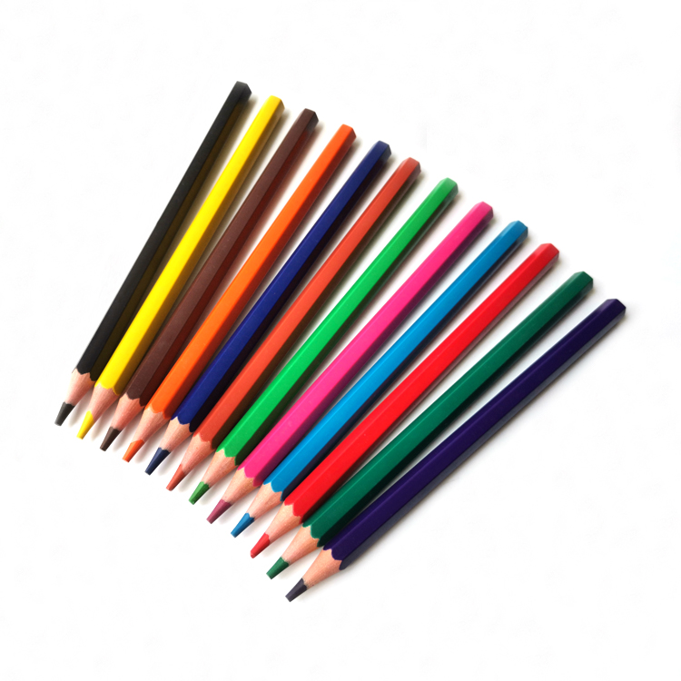 18 Years Factory 12pcs 4mm Lead Art Supplies Woodless Color Pencil