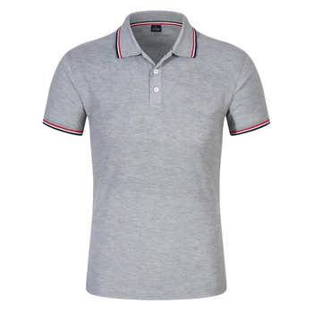 Wholesale 220GSM Cotton Polyester Blend Polo Shirts Custom Blank Mens Polo Shirts