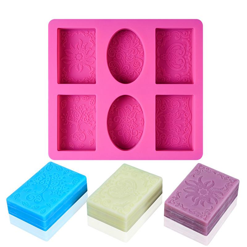 Готовые к отправке оптом DIY шаблон Мыло Форма квадратного эллипса мыло прессформы силиконового мыла