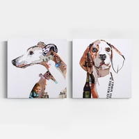 Abstract personalized pet dog portraits POP art wall painting Custom canvas prints