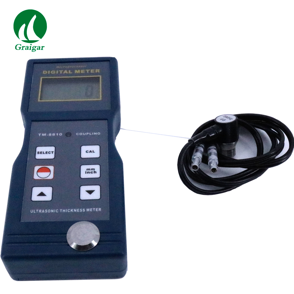 TM-8810 Digital Ultrasonic Thickness Gauge Measurement Range 0.06-8 inch