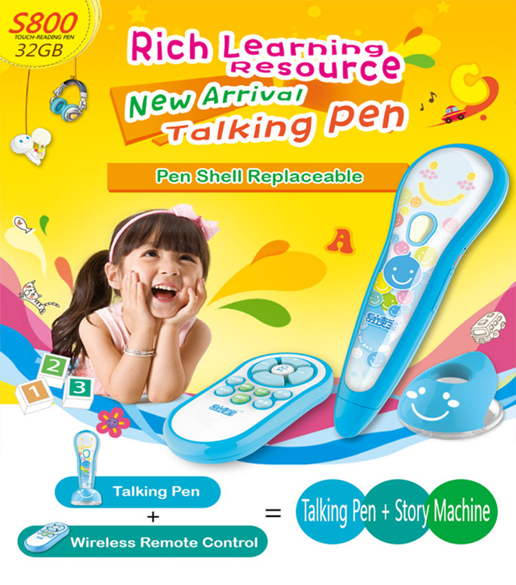 Educational English Learning Teaching Smart Talking Reading Pen for Kids