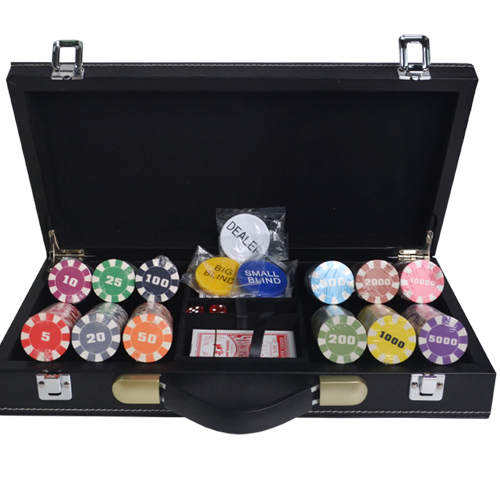 Premium texas hold em poker chip set 10g ceramica poker chips con custodia in pelle