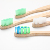 100% recycle bamboo good wood toothbrush with paper box
