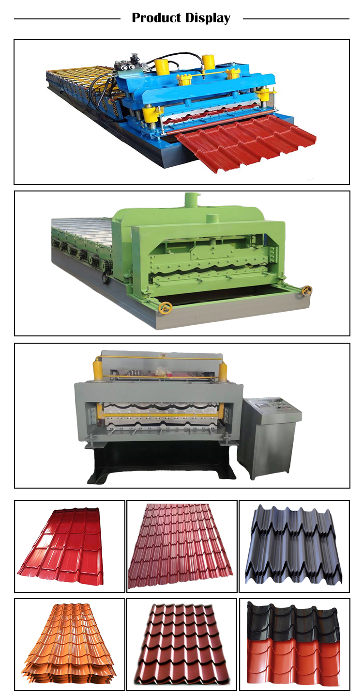 zinc roofing sheet glazed tile making machine 900
