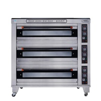 3 Deck 9 Trays Baking Equipment Luxury Electric Bakery Oven