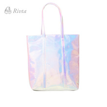 Private Label Shiny Mode Frauen Shiny Holographische Schillernden Tote <span class=keywords><strong>Tasche</strong></span>