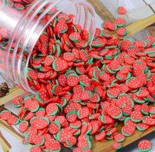 1000 шт./лот Fimo Ломтики Kawaii 5 мм фруктовый Шарм Арбуз Лимон для слизи наполнитель пушистая глина мягкая керамика чипы для ногтей(Китай)