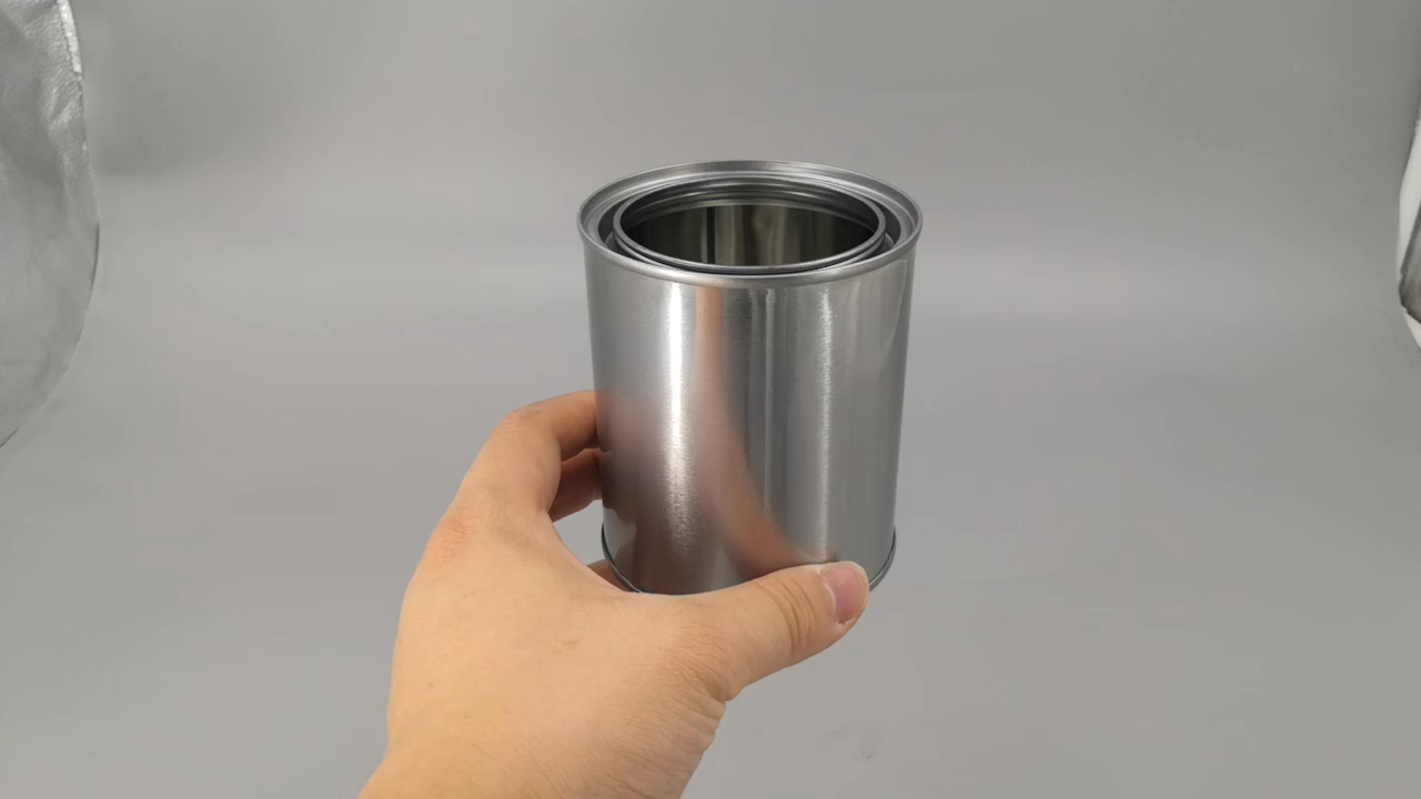 Wholesale 500ml/1 Pint Metal Tinplate Paint Cans with Triple Tight Lid.Tin Can Manufacturer