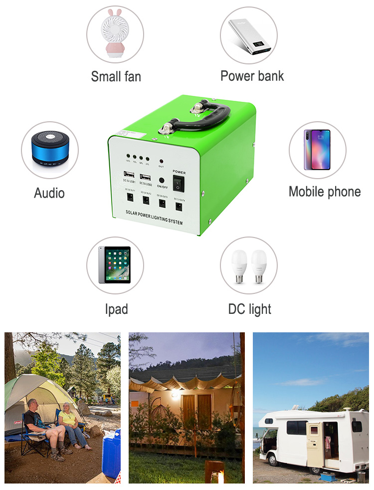 Xindun Advanced Technology Colorful Product Hand-held Mini 20W 12V 9AH Solar Power System/Solar Power Generator