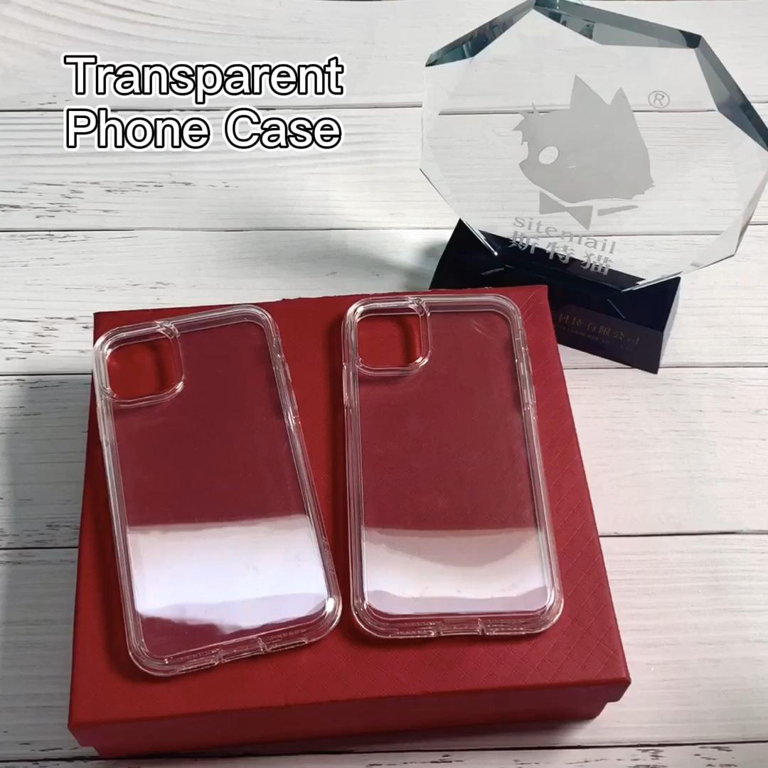 Toptan şeffaf cep kapak yüksek net TPU PC telefon kılıfı iPhone için kılıf 7 8 artı SE2 11 Pro Max 12