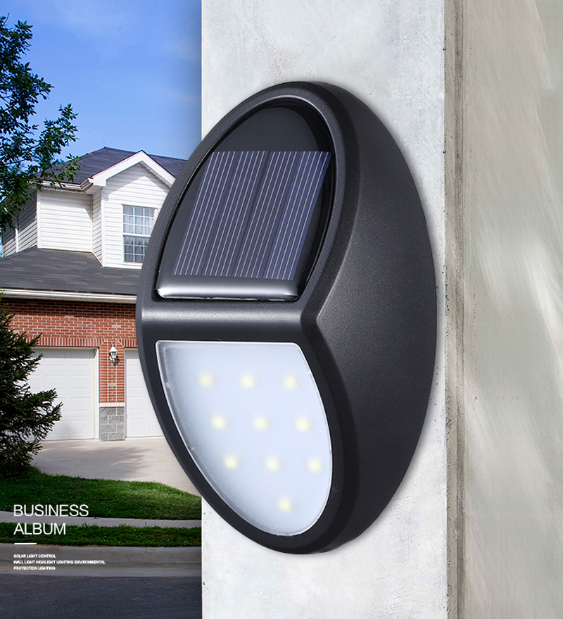 10 LED Solar Wall Light Outdoors Solar Garden Light Waterproof PIR Motion Sensor Wall Lamp Spotlights Emergency Street Lamp
