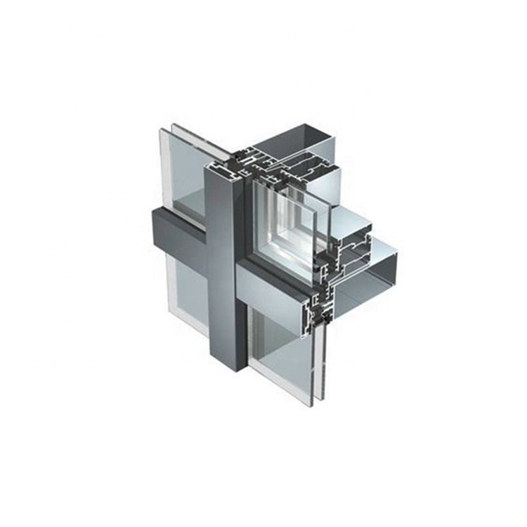 Thermal Break Structural Aluminum Frame Glass Curtain Walls