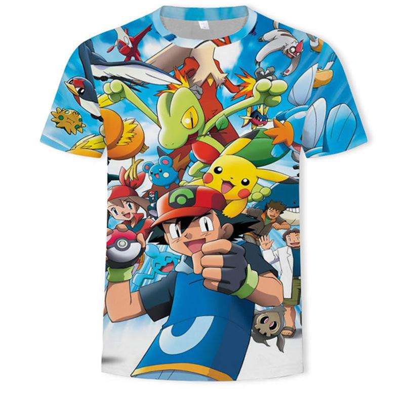 Pokemon T Shirt T-shirts Men Women 3D Shirt Fashion Hip Hop Streetwear Graphic Tops Casual Tee Shirt