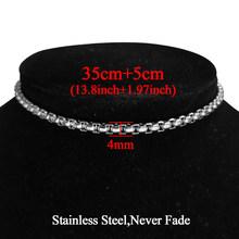 Модное ожерелье-чокер из нержавеющей стали серебряного цвета, массивная кубинская цепочка, ожерелье для женщин в стиле хип-хоп, Очарователь...(Китай)