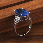 Jueng Colour Change Fluorite Custom ring cz blue stone, wedding rings engagement silver rings supplier