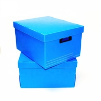 Hot Sale Factory Supply pp corrugated plastic foldable storage moving box