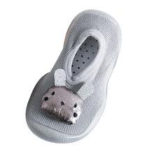 Обувь для новорожденных с кроликом; обувь на мягкой резиновой подошве для маленьких девочек; носки; тапочки; Scarpe Bambina Baby Schoenen; обувь для первы...(China)