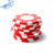 Metal/clay Poker Chips Classic Striped Dice 11.5gm Poker Chip Set