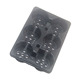 Large Deep 6 Cell PS Black Plastic Forest Nursery Seedling Trays for Tree Seed Propagation