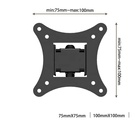 "VESA 100x100 Heavy Duty Metal Articulating Tv Holder Swivel LCD Wall Mount For 13""-27"" LCD LED TVs"