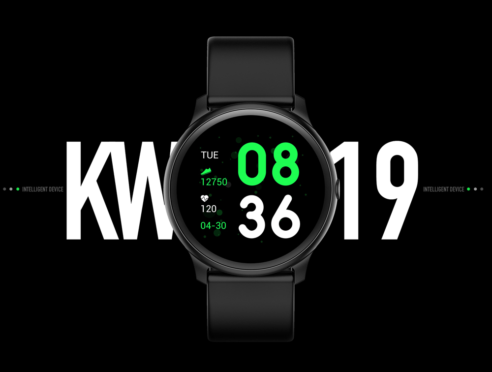 2019 New Hot Fitness Smart Band KW19 Heart Rate Monitor Blood Pressure Watch Smart Band
