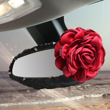 <span class=keywords><strong>Rode</strong></span> Roos Bloem Autostoel Interieur Accessoires Auto Crystal Bloemen Handrem Shifter Gear Cover Seat Belt Cover