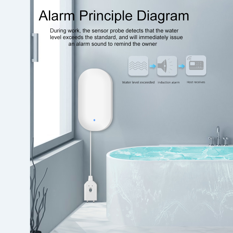Smart life Home security wireless Water flood detector 433mhz water leakage detector