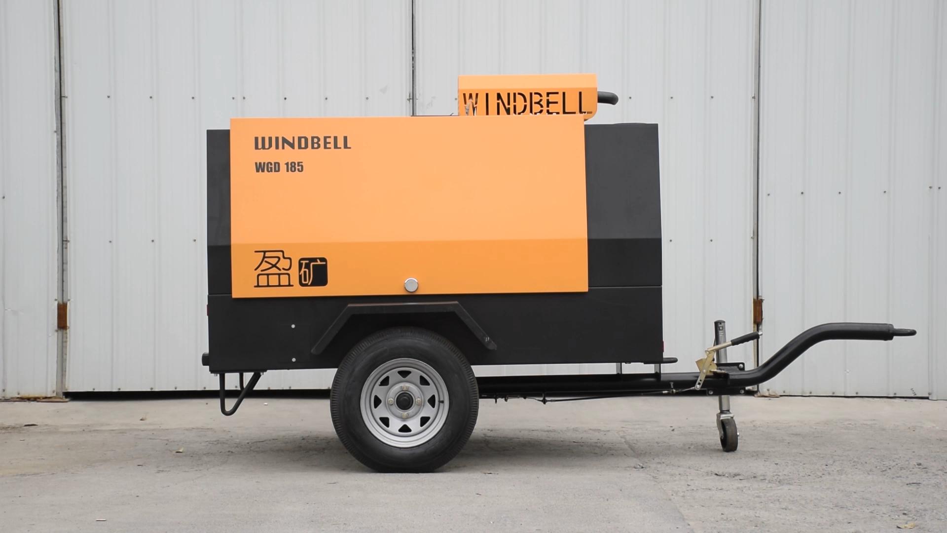 Compresor de aire de tornillo portátil Diesel para minería de construcción en venta