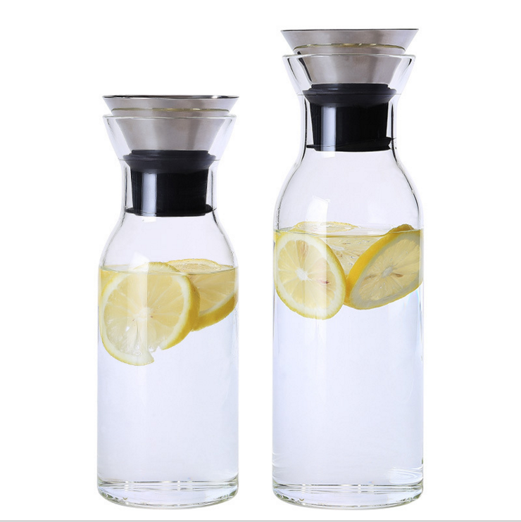 Heat-resistant Glass Water Jug with Lid