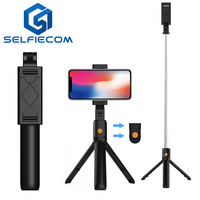 selfie stick tripod K07 extendable stick mini tripod with detachable remote for smart phones selfie phone holder