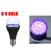 sterilization mosquitocide e27 uv led light bulb Purple 365nm 395nm waterproof light