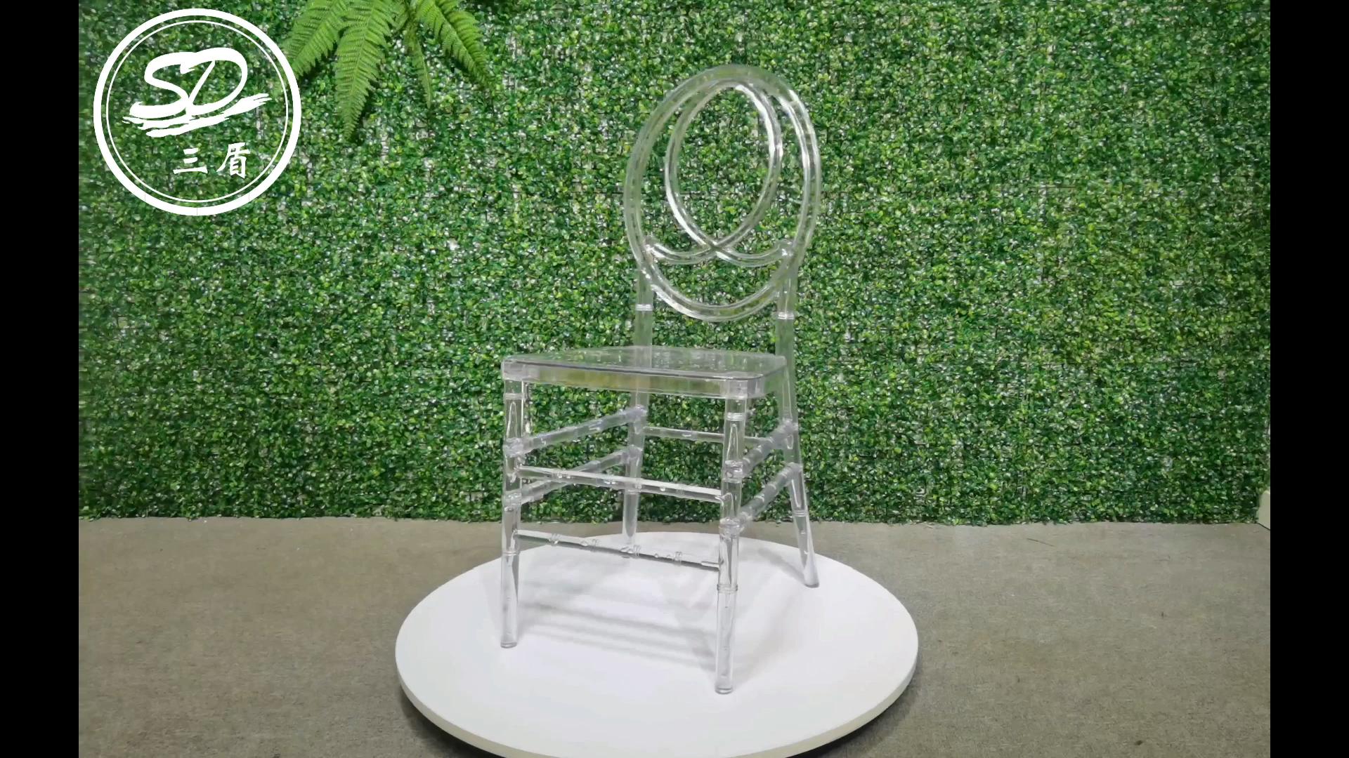 Resina Cadeira de Acrílico Cristal De Casamento Phoenix Cadeira AC-001