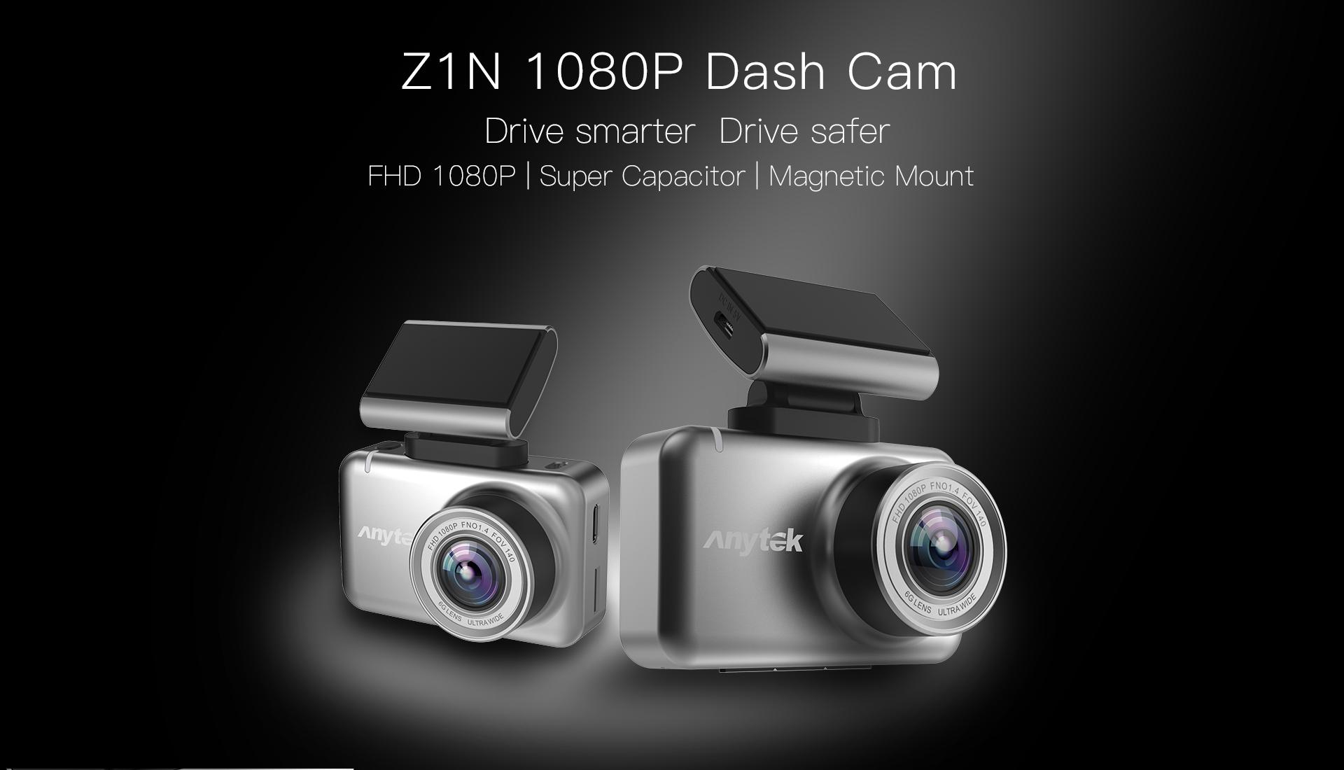 Anytek 2.35inch IPS Touch Screen Car Dash Cam Super Capacitor Dash Cam 1080p Z1N Night Version