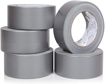 Heavy Duty Silver Duct Tape - Large Bulk Value Pack of Grey Original Extra Strength, No Residue.Tear by Hand