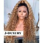 Best grade 12A virgin human hair deep curly ombre 1B #27 full swiss HD lace frontal wigs for black women full lace wig