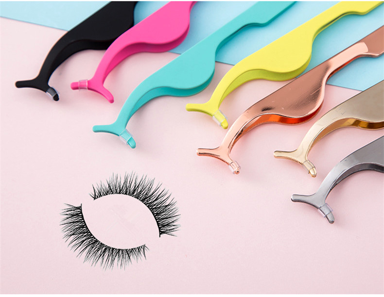 Beauty Tool Colorful Handiness Stainless Steel Grafting Eyelash Clip