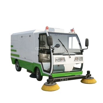 OCM-S2000 electric road sweeper sweeping and vacuuming ultra-large dustbin hydraulic dumping system