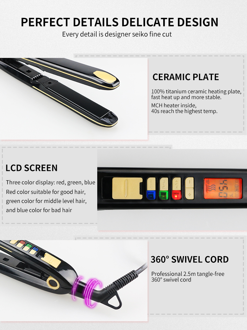 New Design DODO L-S150 New & Trendy High Quality hair straightener for Salon