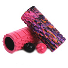 Blue Pilates Yoga Roller EVA Foam Roller Deep Tissue Massager Set with Spiky Massage Ball