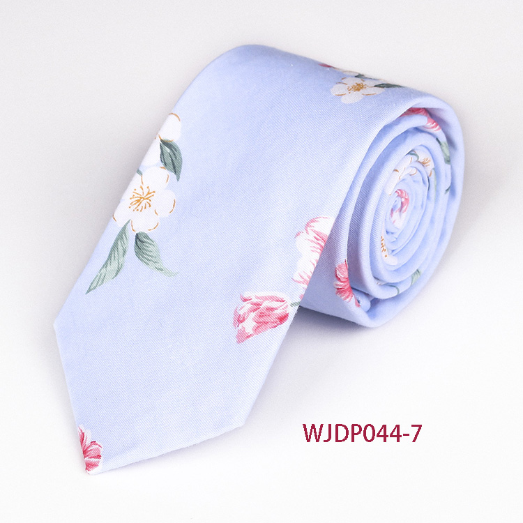 High Quality Casual Wedding Ties Cotton Red Floral Pattern Neck Tie