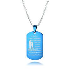 Европейская и американская мода, Женское Ожерелье из титановой стали с именной табличкой, колье, персонализированные ювелирные изделия для...(Китай)
