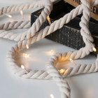 Battery operated led lighting - 10L Cotton Rope fancy led lights home decoration