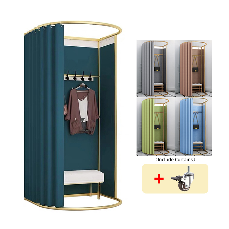 Custom High Quality Metal Aluminum Movable Portable Fitting Room Mobile Dressing Room Portable Changing Room for <strong>Retail</strong>
