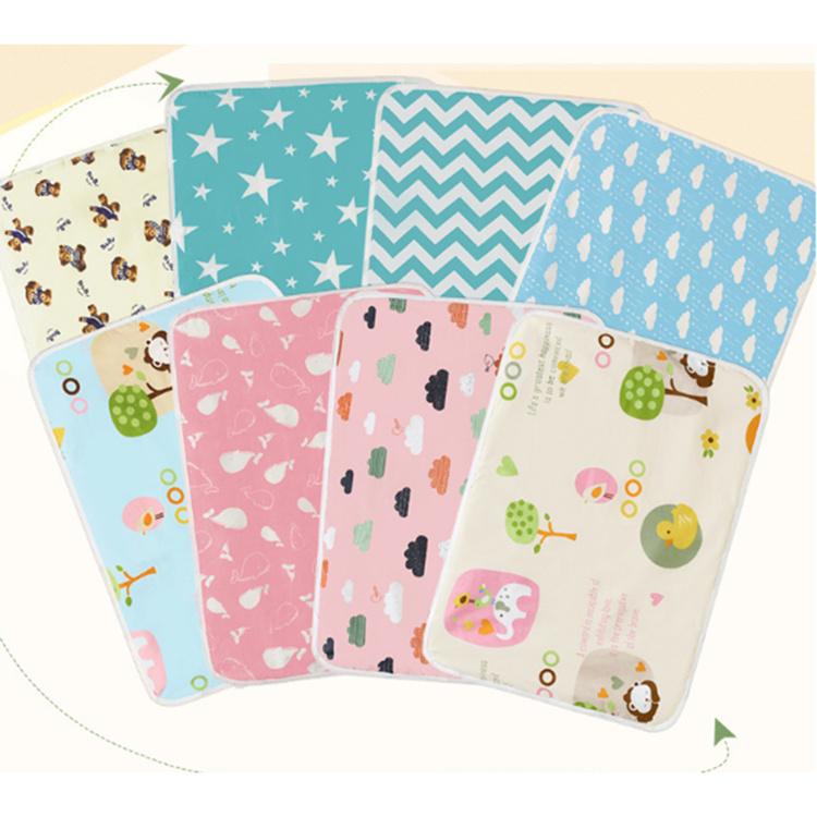 100% cotton Custom Waterproof Portable Foldable Baby Diaper changing Mat