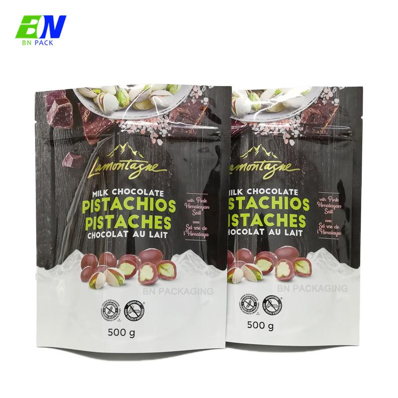 China 250g Matt Finish Black Ziplock Roasted Coffee Bag Pouches flexible packaging
