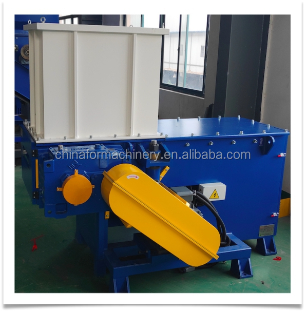 Plastic shredder for Film for EPS bolcks shaft plastic recycling crusher  single shaft shredder
