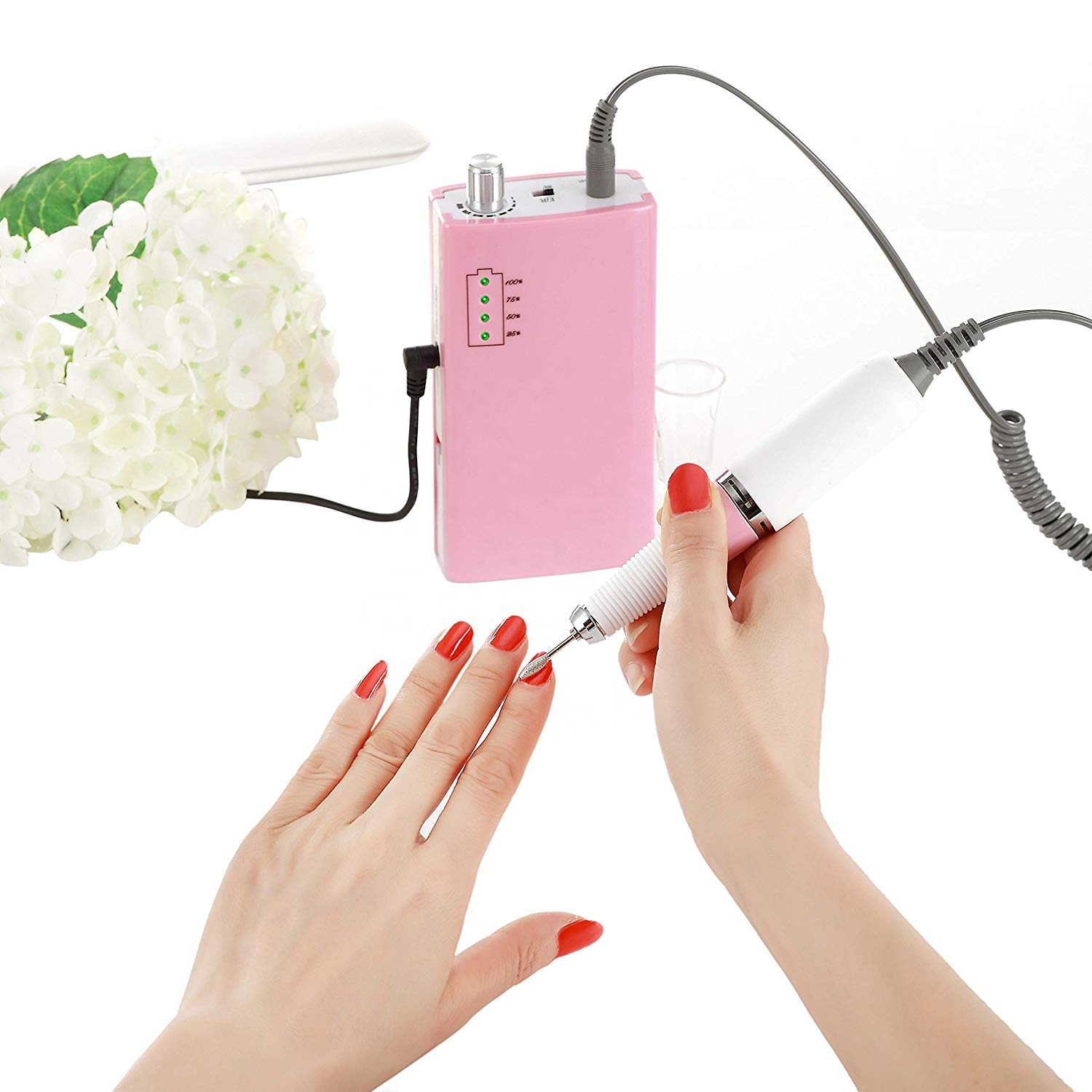Misbeauty pro electric acrylic e file nail drill machine electric 365nm curing lamp uv for nails polish ceramic foot spa