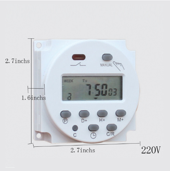 CN101A 12V 24V 110V 240V Digital LCD Power Timer Programmable Time Switch Alarm Clock Light Timer Switch